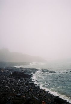 .foggy shoreline  this really is stunning... I imagine this would be a great Saturday morning walk!!! tai...