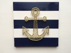Nautical Gold Anchor String Art by TheDustyDaisyShop on Etsy
