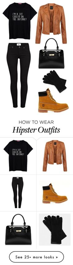 """Sans titre #46"" by romanathestylegirl on Polyvore featuring Paige Denim, Coach and Timberland"