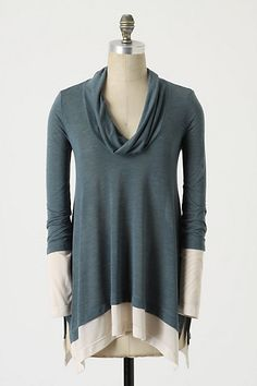 Two-Story Cowlneck #anthropologie