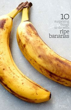 Don't toss those ripe bananas! Find new recipes here: http://www.bhg.com/recipes/how-to/cook-with-fruits-and-vegetables/ripe-banana-recipes/?socsrc=bhgpin011015donttossripebananas&page=1