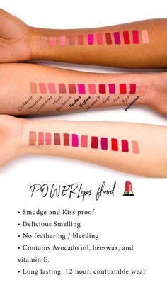 𝗪𝗛𝗔𝗧'𝗦 𝗬𝗢𝗨𝗥 𝗣𝗢𝗪𝗘𝗥 𝗠𝗢𝗩𝗘 𝗦𝗛𝗔𝗗𝗘? 18 Amazing shades to match your power moves! Nu Skin, Beauty Tips For Face, Diy Beauty, Beauty Box, Beauty Ideas, Natural Lipstick, Natural Skin, Lipstick Colors, Lip Colors