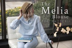 The Melia Blouse - Free Sewing Pattern - Mood Sewciety