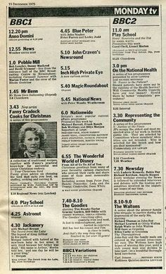 Radio Times Dec 1975. It would arrive on a Thursday morning & Mum would mark with a red pen the programmes we could watch!