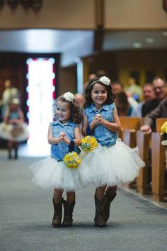 These little cuties bring a whole new meaning to #country chic with their cowgirl boots and denim tops.