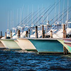 Hulls and Waterline | Flickr - Photo Sharing! Fishing boats at dock - Oregon Inlet, North Carolina