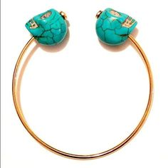 Turquoise Skull Head Bangle