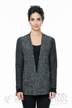 Portal do Tricot Blazer, Jackets, Fashion, Elegant Woman, Charms, Tricot, Down Jackets, Moda, Fashion Styles