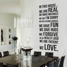 Wall Sticker HOUSE RULES by Sticky!!!
