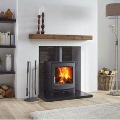 38 trendy wood burning stove fireplace decor log burner - Ideas for the house Pellet Fireplace, Wood Burner Fireplace, Wood Pellet Stoves, Fireplace Hearth, Fireplace Remodel, Fireplace Design, Wood Burning Stoves, Fireplace Ideas, Gas Wood Burner