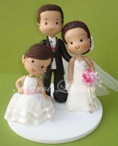 идеи свадебных фигурок-wedding cake topper ideas - Мастер-классы по украшению тортов Cake Decorating Tutorials (How To's) Tortas Paso a Paso