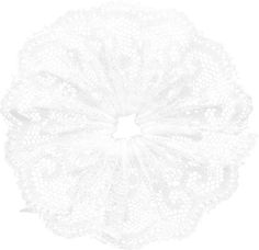 Renda franzida ao centro em forma de flor