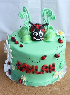 Birthday Cakes - Lady Bug Cake Cupcake Birthday Cake, Cupcake Cakes, Cupcakes, Fruit Cakes, Ladybug Cakes, Owl Cakes, Chocolate Art, Rose Cake, Piece Of Cakes