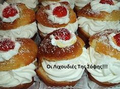 Greek Sweets, Doughnut, Diy And Crafts, Cheesecake, Deserts, Food And Drink, Pasta, Christmas, Kitchens