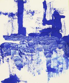 55. 4H30-paris Jieun Park, 55. 4H30-paris, Acrylic Painting and Color Ink on Korean Paper, South Korea.