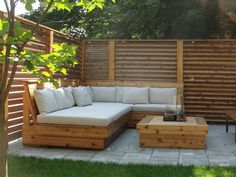 Modern Patio Landscaping in Outremont Garden Seating, Outdoor Seating, Outdoor Spaces, Outdoor Decor, Outdoor Sectional, Outside Living, Outdoor Living, Back Patio, Deck Design