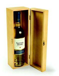 Presentation case for a special wine bottle. awesomebottlecandles.com