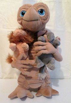 E.T. The Extra Terrestrial Plush Universal Studios 15 Inches Closet Scene Rare…