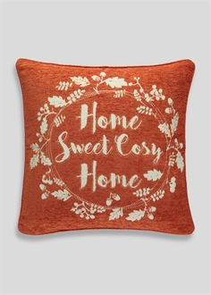 Home Sweet Cosy Home Chenille Cushion (48cm x 48cm)