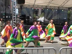 2012 World Choir Games Friendship Concert on Fountain Square: It was just about 100 degrees, but the Incar Dansspektakel dancers from Belgium performed perfectly for the crowd.