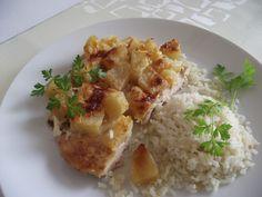 Ananászos csirkemellet ajánlok vasárnapra. Ilyen módon elkészítve a csirkemell biztosan nem lesz száraz. Petrezselymes rizzsel tálald. Risotto, Ethnic Recipes