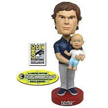 Dexter and Harrsion Bobblehead by Bif Bang Pow. $24.50. Recommended Age: 18 years and up. CHOKING HAZARD - Small parts. Not for children under 3 yrs.. Our Dexter and Harrison Bobblehead is a SDCC Exclusive double-wobbler! Both Dexter's and Harrison's heads bobble! Based on the hit Showtime television series. Manufactured by Bif Bang Pow! Can the serial killer and his son come over to your house? Entertainment Earth Comic-Con San Diego 2010 Exclusive! It's time to ...