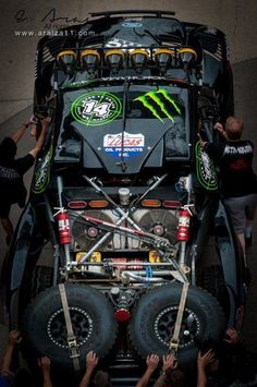 Top view of a trophy truck