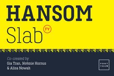 As its cousin Hansom FY, this font has friendly shapes and rounded terminals. Slabs reinforce its masculine and technique appearance. The Hansom Slab FY family is composed of 6 quality fonts. Hansom Slab FY was created by Black Foundry and is for sale at Hipster Fonts, Funky Fonts, Cute Fonts, Bold Fonts, Modern Serif Fonts, Slab Serif Fonts, Design Typography, Typography Fonts, Business Brochure