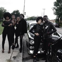 """The Black Panthers Party is paid homage in Isaac West's """"October editorial series Black Panther Party Costume, Black Panthers Movement, Black Like Me, Black Couples Goals, Black History Facts, Afro Punk, Black Pride, Black Power, Beautiful Black Women"""