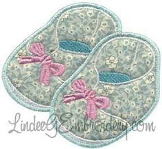 Baby Shoes Applique - machine embroidery design