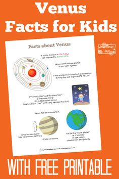 Fun Venus Facts for Kids - Itsy Bitsy Fun Planets Activities, Solar System Activities, Space Activities For Kids, Solar System Projects, Science For Kids, Science Activities, Life Science, Science Ideas, Science Lessons