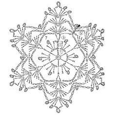 Crochet Pattern – Angel with Gold Trim Crochet Snowflake Pattern, Crochet Stars, Crochet Motifs, Crochet Snowflakes, Crochet Diagram, Crochet Round, Doily Patterns, Thread Crochet, Irish Crochet