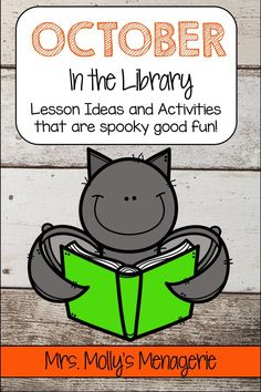 Book suggestions and activities for the month of October. Library lessons that are quick and easy! Kindergarten Library Lessons, School Library Lessons, Library Lesson Plans, Elementary School Library, Library Skills, Library Activities, Elementary Schools, Library Ideas, Library Rules