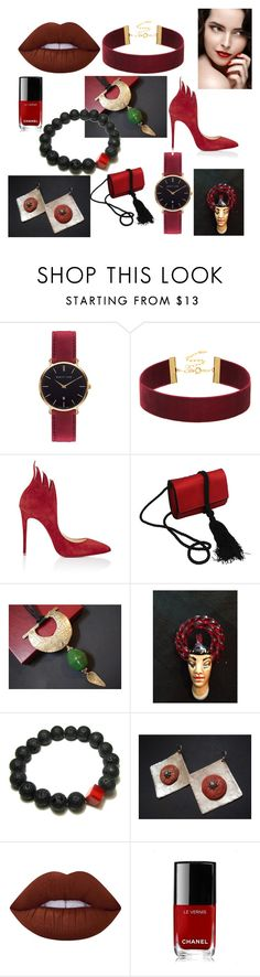 """""""Pretty Woman"""" by anna-recycle ❤ liked on Polyvore featuring Abbott Lyon, Christian Louboutin, Salvatore Ferragamo, Lime Crime and Chanel"""