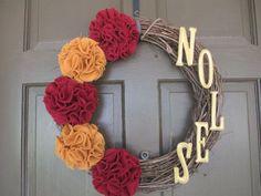 state university wreaths | FSU Wreath (Florida State University/SEMINOLES) - | Craft Ideas