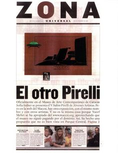 """Yucef Merhi. """" El otro Pirelli"""". 2001    Yucef Mehri is a pioneer of net art and Hacking Art in the South American environment. Merhi's oeuvre navigates between regenerative poetry and information systems. He became popular in the late 1990s when he took control of the website of the Caracas Museum of Contemporary Art and built a parallel website."""