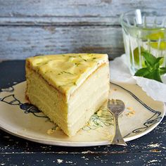 Lemon and ginger know many only in the form of tea. But also as a cake . Lemon Torte, Gin Lemon, Recipe D, Piece Of Cakes, Fresh Ginger, Sweet Recipes, Bakery, Cheesecake, Cocktails