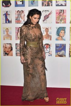Kim Kardashian & Kanye West Have Date Night at Vogue 100 Gala: Photo #3664280. Kim Kardashian poses on the red carpet at the Vogue 100 Festival Gala held at Kensington Gardens on Monday evening (May 23) in London, England.    The 35-year-old…