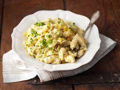 Maissi-kanapasta Pasta Salad, Potato Salad, Macaroni And Cheese, Potatoes, Ethnic Recipes, Food, Crab Pasta Salad, Mac And Cheese, Potato