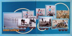 2 page scrapbook layout by Michelle Houghton | GetItScrapped.com/blog