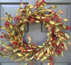 Leaf & Rosehip Wreath - Creative Decorations by Ridgewood Designs