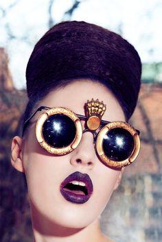 Mercura golden girl claw sunglasses photo by Eric Garcia