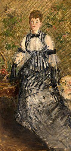 Collection Online   Édouard Manet. Woman in Evening Dress (Femme en robe de soirée). 1877–80 - Guggenheim Museum