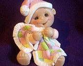 Baby Baby's first Christmas Ornament children Personalized Gift  Polymer Clay Baby Shower Gift clayqts etsy