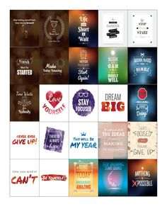 Free Printable-Get Inspired Quote Planner Sticker Sheets for Erin Condren…