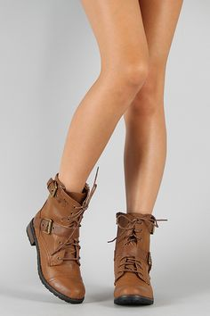Urbanog.com Bamboo Battle-01 Buckle Lace Up Military Bootie