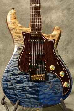Knaggs Guitars Severn T1 Trem Faded Blue, 12th Dragon Fly inlay
