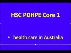HSC PDHPE Core 1 - Health Care in Australia - YouTube