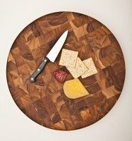Circle End Grain Cutting Board 18 X 2