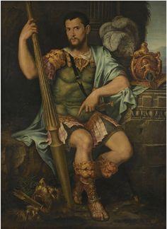Francesco Primaticcio, Portrait of a Nobleman, Presumed to be Jean de Dinteville, as Saint George, 1544